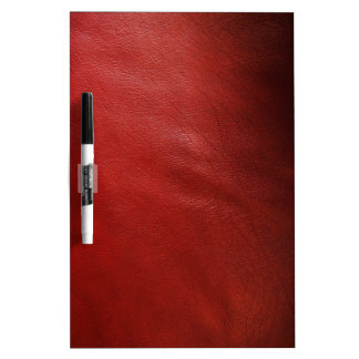 Red leather design dry erase board