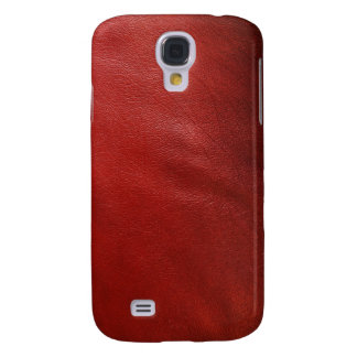 Red leather design galaxy s4 case