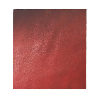 Red leather design notepad