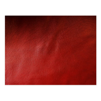 Red leather design postcard