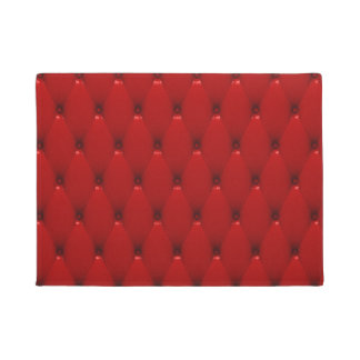RED LEATHER DOORMAT