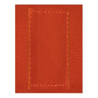 Red Leather Look Designer COWBOYS Postcard