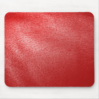 Red Leather Look Mouse Mat