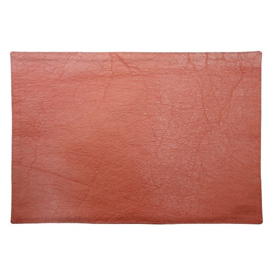 Red Leather Place Mats