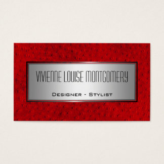 Red Leather Professional Designer Business Card