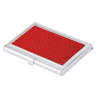 Red Leather Texture Business Card Holder