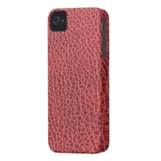 Red Leather Texture iPhone 4/4S Case-Mate B.T.