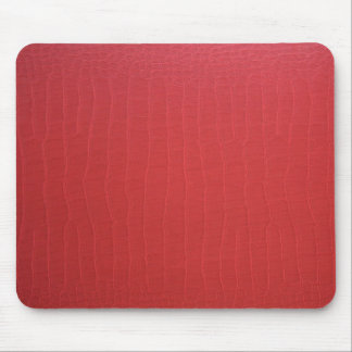 Red Leather Texture Mousepad