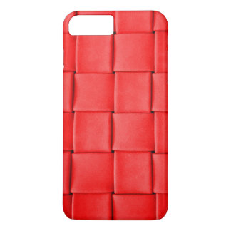 red leather weave background iPhone 7 plus case