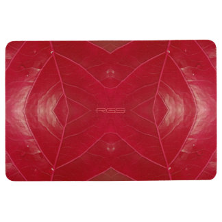 Red Leatherette Floor Mat