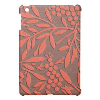 Red leaves and berries japanese pattern iPad mini cover