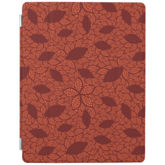 Red leaves pattern on orange iPad cover