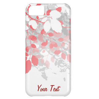 Red Leaves - Personalize iPhone 5C Case