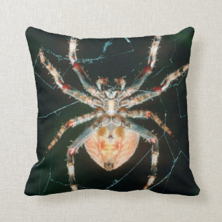 Red-Legged Orb-Web Spider Throw Pillow