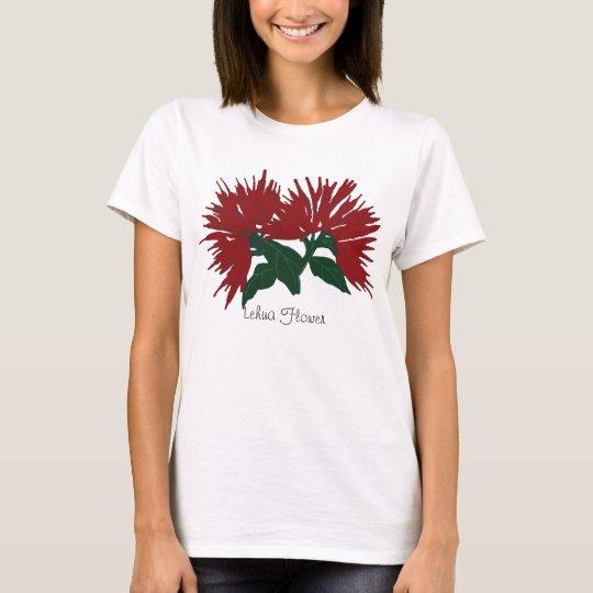 Red Lehua flower shirt