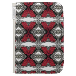 Red Lens Pattern Kindle 3G Cover