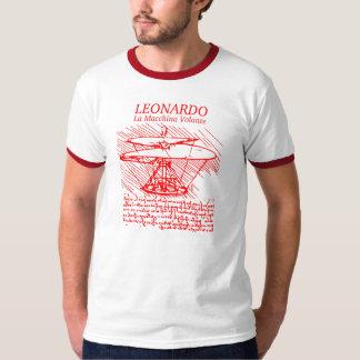 Red Leonardo da Vinci Helicopter T-Shirt