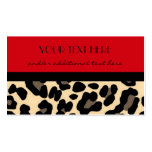 Red Leopard Business Card