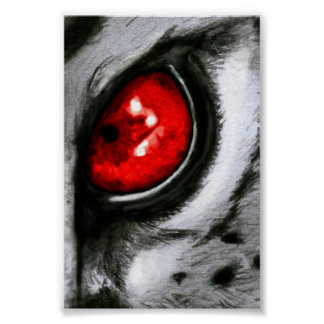 Red Leopard Eye Poster