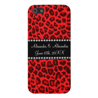 Red leopard pattern wedding favors cases for iPhone 5