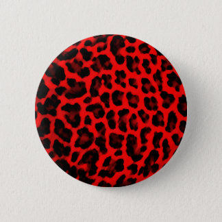 Red Leopard Print 6 Cm Round Badge