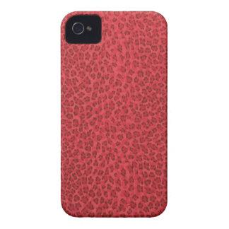 Red Leopard Print Blackberry Bold Case