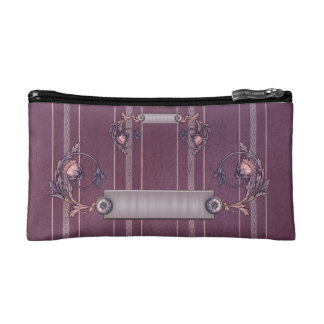 Red Liberty Upholstery Small Cosmetic Bag