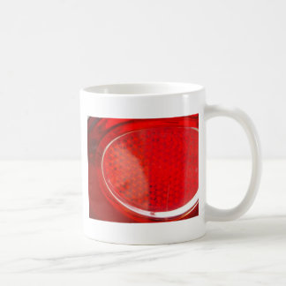 Red light abstract basic white mug