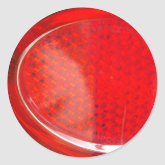 Red light abstract round sticker