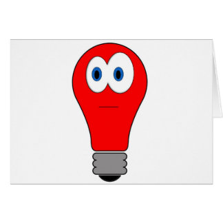 Red Light Bulb Card