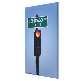 Red light, Chicago Illinois, USA Canvas Print