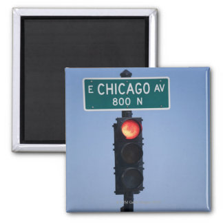 Red light, Chicago Illinois, USA Magnet
