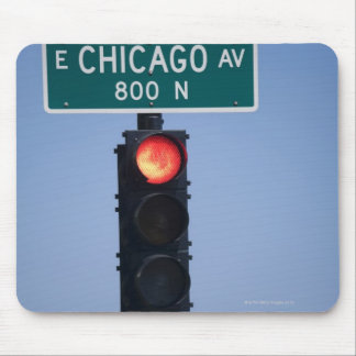 Red light, Chicago Illinois, USA Mouse Pad