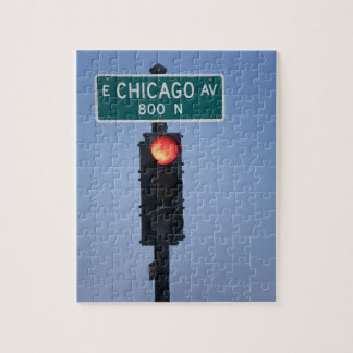 Red light, Chicago Illinois, USA Puzzles