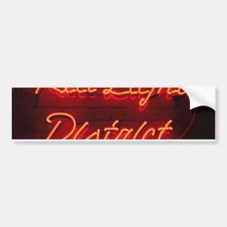 Red Light District Bumper Sticker