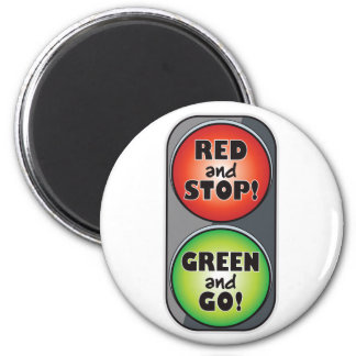 Red Light Green Light 6 Cm Round Magnet