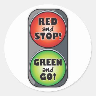 Red Light Green Light Round Sticker