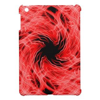 Red light trails pattern iPad mini covers