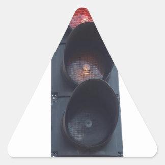 Red light triangle sticker