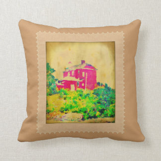 Red Lighthouse and Beach Pillow