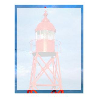 Red lighthouse 21.5 cm x 28 cm flyer
