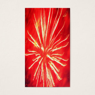 red lightning business card