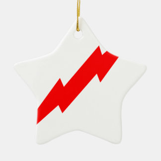 Red Lightning Ceramic Star Decoration