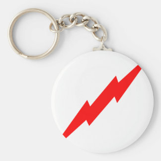 Red Lightning Key Chain
