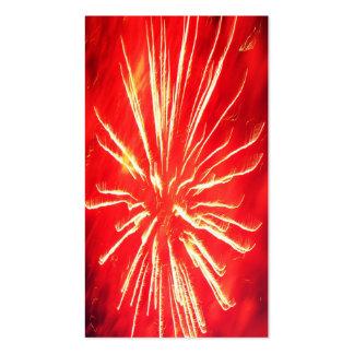 red lightning pack of standard business cards