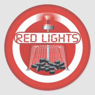 Red Lights Classic Round Sticker