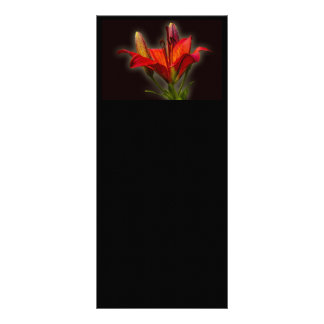 RED LILIES DIGITAL REALISM FLOWERS BACKGROUNDS WAL RACK CARD DESIGN