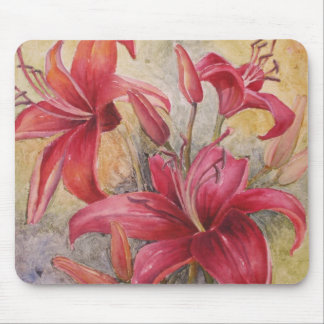Red Lillies Mouse Pad