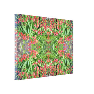 Red Lily 1 Flower Fractal Canvas small