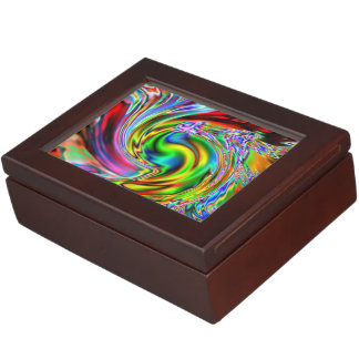 Red Lily Colorized Abstract Memory Boxes